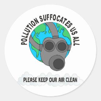 POLLUTION ROUND STICKER