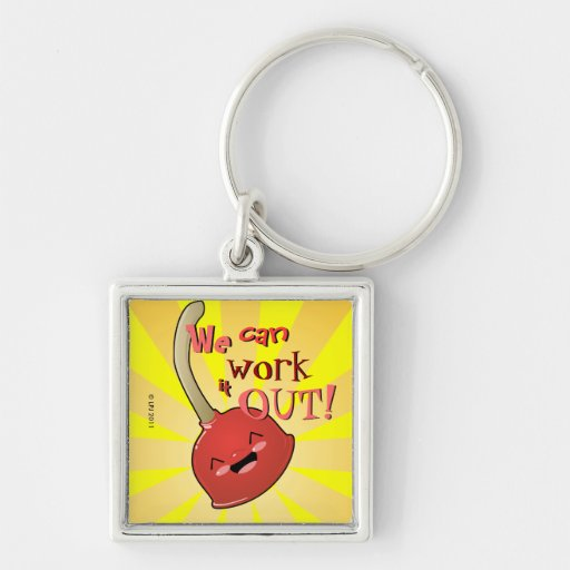Polly the Plunger Keychain