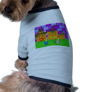 Polly Winkle Pumpkin Family Dog Tshirt