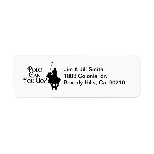 Polo Can You Go Return Address Label