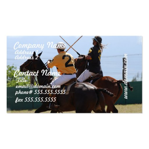 Polo Horse Match Business Cards