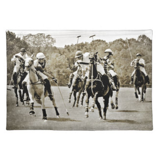 Polo Horses Galloping Placemat