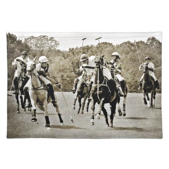 Polo Horses Galloping Placemats