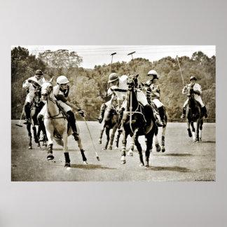 Polo Horses Galloping Print