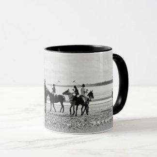 Polo Match St Andrews West Sands Beach B&W Photo Mug
