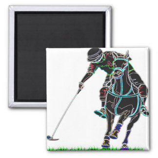 POLO ONE HORSE SQUARE MAGNET