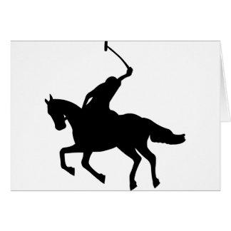 Polo player on horseback. card