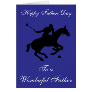 POLO PONY FATHERS DAY GREETING CARD