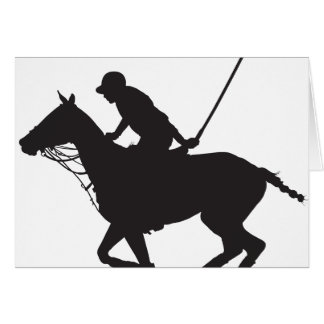 Polo Pony Silhouette Greeting Card