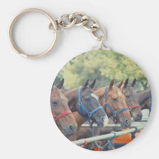 Polo Pony String Basic Round Button Key Ring