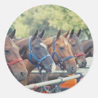 Polo Pony String Classic Round Sticker