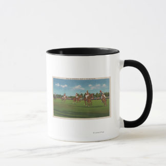 Polo Scene with Players and Horses on Lawn Mug