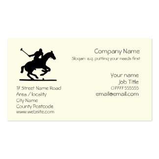 Polo Sports business card template
