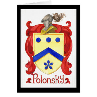 Polonsky Family Crest Greeting Card