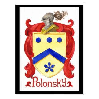 Polonsky Family Crest Postcard