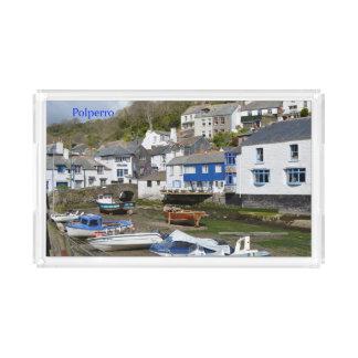 Polperro Cornwall England Low Tide Acrylic Tray