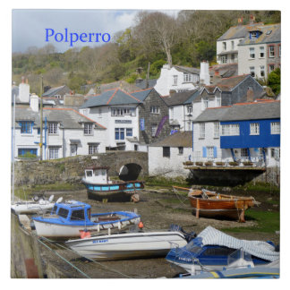 Polperro Cornwall England Low Tide Tile
