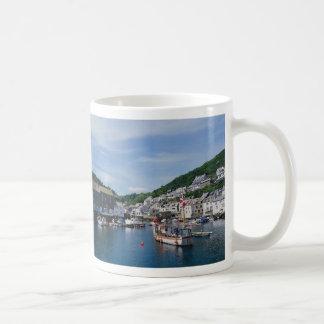 Polperro Harbor, Cornwall, England, U.K. Basic White Mug