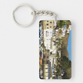 Polperro Harbour Cornwall England Key Ring