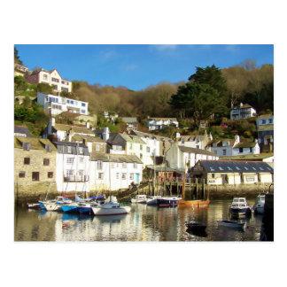 Polperro Harbour Cornwall England Post Card
