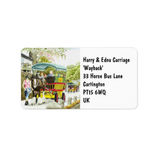 'Polperro Horse Bus' Label Address Label