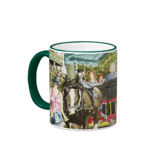 'Polperro Horse Bus' Mug