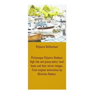 'Polperro Reflections' Large Bookmark / Rack Card