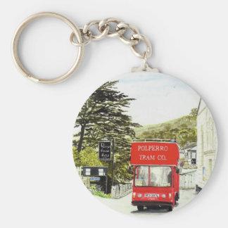 'Polperro Tram' Keychain