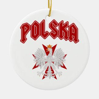 Polska Eagle Cross Christmas Ornament