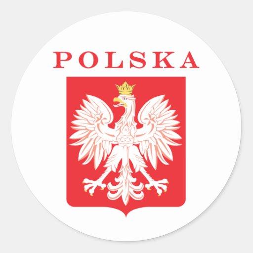 Polska Eagle Red Shield Sticker