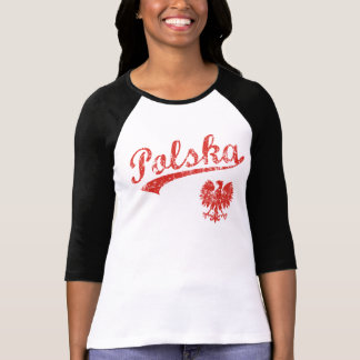 Polska Eagle Sport Style Tee Shirts