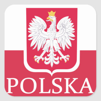 Polska Flag Coat of Arms Stickers