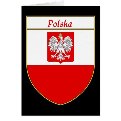 Polska Flag Shield Greeting Card