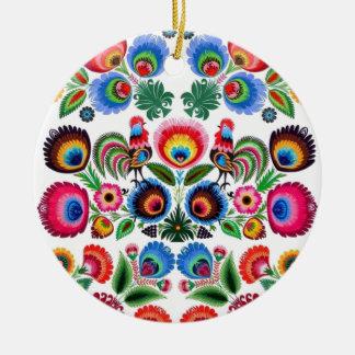 Polska Folk Flowers Christmas Ornament
