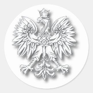 POLSKA-Orzel Classic Round Sticker