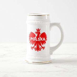 """Polska"" Poland Beer Stein"