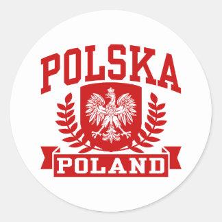 Polska Poland Classic Round Sticker
