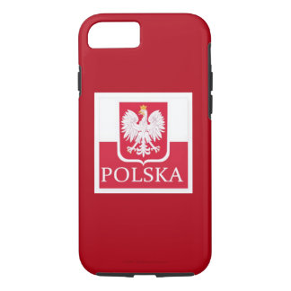 POLSKA  POLISH FLAG WITH CROWNED EAGLE iPhone 7 CASE