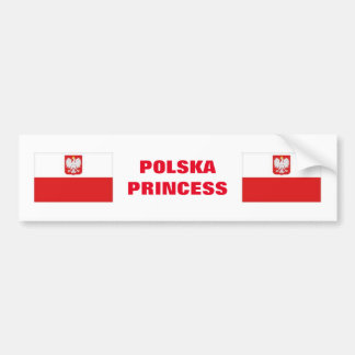 POLSKA PRINCESS BUMPER STICKER
