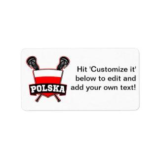 Polski Poland Lacrosse Address Label