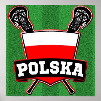 Polski Poland Lacrosse Poster