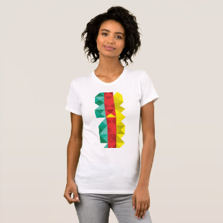 Poly Cameroon Flag, Cameroon Africa Colors T-Shirt