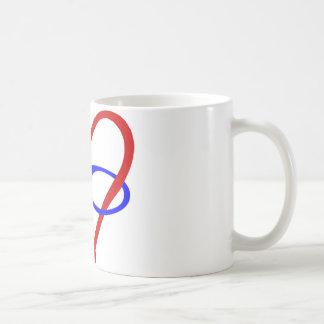 Poly Heart Infinity Basic White Mug