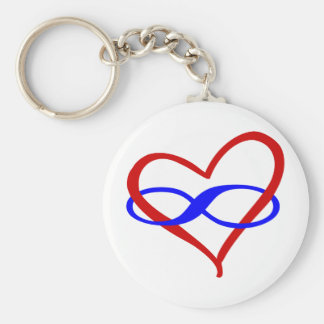 Poly Heart Infinity Key Ring