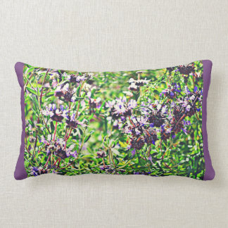 Poly Lumbar Pillow - Lavender in Chrome