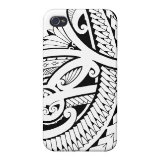 Poly tattoo design tribal elements iPhone 4 case