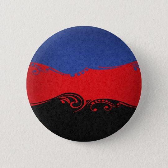Polyamorous Ornamental Flag 6 Cm Round Badge