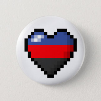 Polyamorous Pixel Heart 6 Cm Round Badge