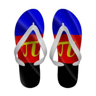 POLYAMOROUS PRIDE FLAG WAVY DESIGN - png Flip-Flops