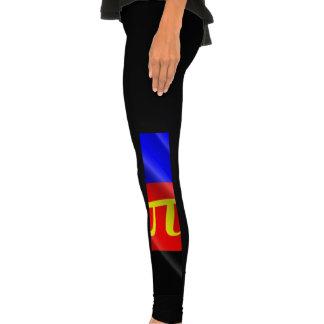 POLYAMOROUS PRIDE FLAG WAVY DESIGN - png Legging Tights
